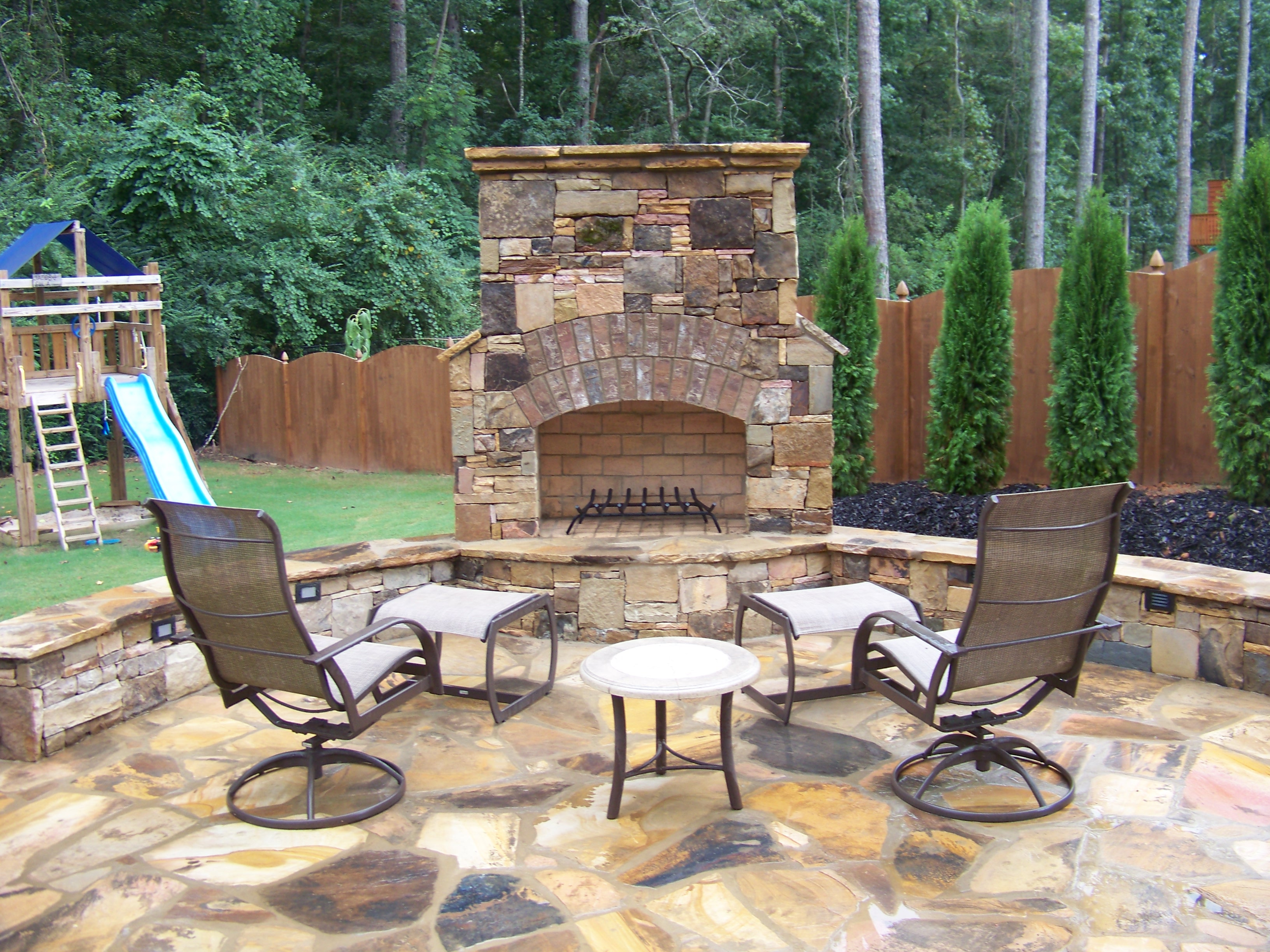 Flagstone Fireplace Flagstone Fireplace Weathered Granite Ashlar